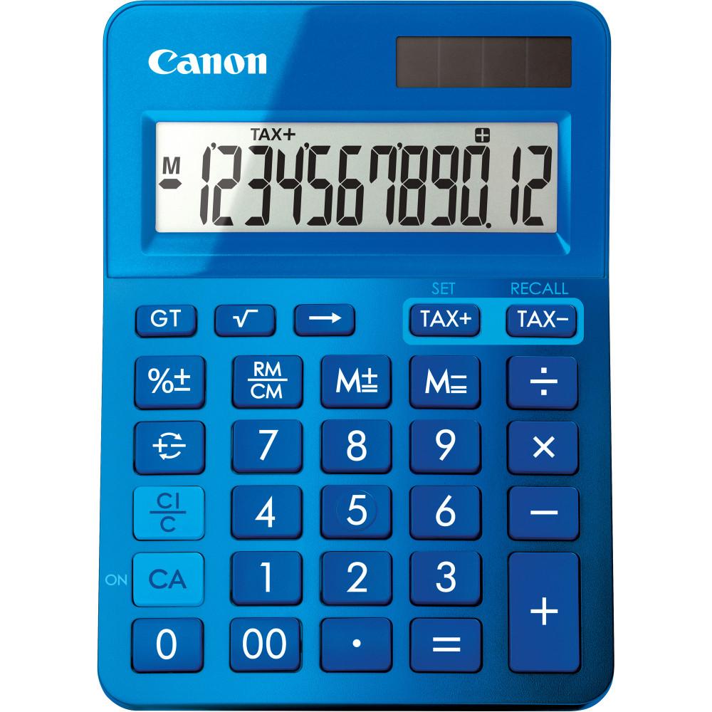 Canon LS-123KM Desktop Calculator 12 Digit Blue