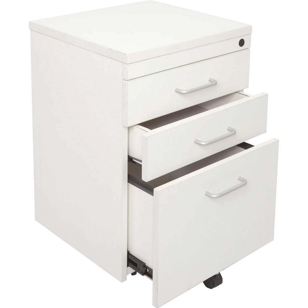 Rapid Span Mobile Pedestal 2 Drawer 1 File Drawer Lockable White
