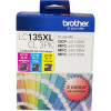 Brother LC-135XLCL Ink Cartridge High Yield Value Pack of 3 Assorted Colours