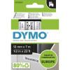 Dymo D1 Label Cassette Tape 12mmx7m Black on White