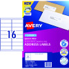 Avery Quick Peel Address Laser Labels L7162 99.1x34.2mm White 1600 Labels, 100 Sheets