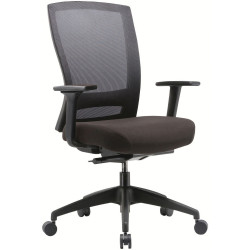 Buro Mentor Mesh Back Task Chair With Arms Black Fabric Seat Mesh Back