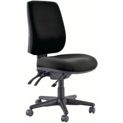 Buro Roma High Back Task Chair 3 Lever No Arms Black Fabric Seat and Back