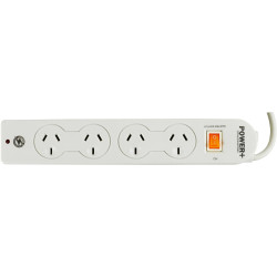 Powerplus 4 Outlet Powerboard Master Switch Surge And Overload Protection