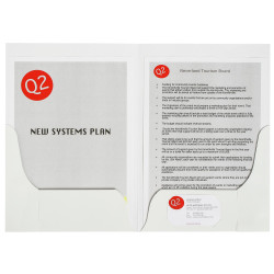 Marbig Professional Series Presentation Folders A4 Double Pocket Gloss Pack Of 10