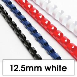 Rexel Plastic Binding Comb 12mm 95 Sheet Capacity White Pack of 100