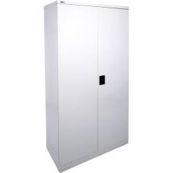 Go Steel Stationery Storage Cupboard 1830Hx910Wx450mmD Silver Grey
