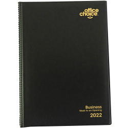Office Choice Business Diary Week To View A4 Black