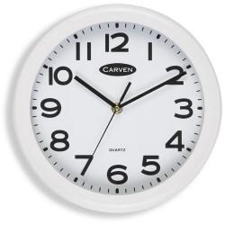 Carven Wall Clock 25cm Diameter White Frame