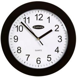 Carven Wall Clock 25cm Diameter Black Frame