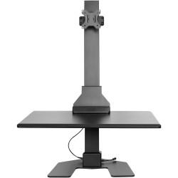 Ergovida Electric Desktop Sit Stand Unit Single Monitor Black