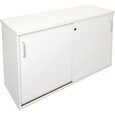 Rapid Span Credenza 730Hx1800Wx450mmD Lockable Sliding Doors All White